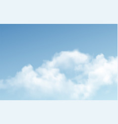 transparent different clouds isolated on blue vector image