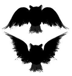 two grunge owls vector image