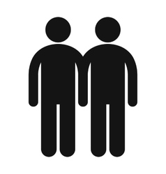 Two male icon vector
