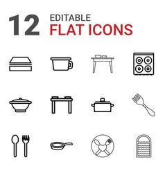 utensil icons vector image