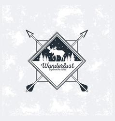 wanderlust adventure logo vector image