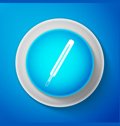 white medical thermometer icon isolated vector image