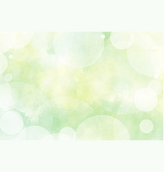 yellow and green watercolor with blurred bokeh vector image