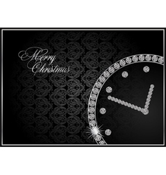 abstract diamond watch vector image