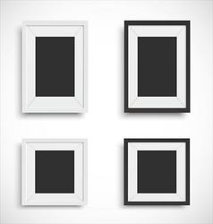 Blank picture frame set vector image vector image