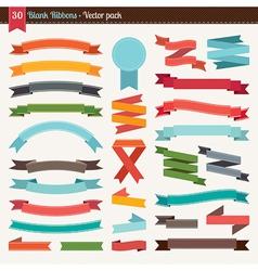 Blank ribbons vector image