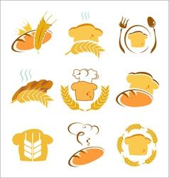 symbols of bread vector image