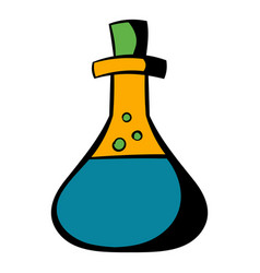 test tube with oil icon icon cartoon vector image