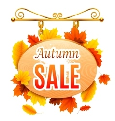Autumn Sale Signboard vector image vector image
