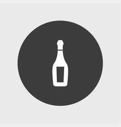 champagne icon simple drink vector image