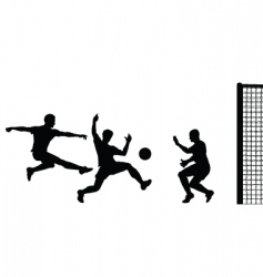 goalmouth action vector image vector image