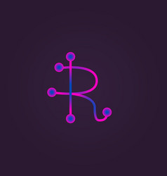 letter r logo icon design vector image vector image