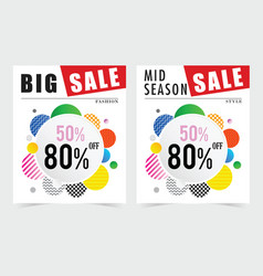 poster for sale design in colorful vector image