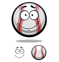 Smiling cartoon baseball ball vector image vector image
