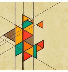 Triangular retro abstract background vector image