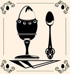 vintage egg vector image vector image