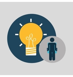 business silhouette man idea bulb vector image