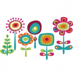childish floral graphics vector image vector image