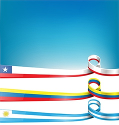 chileanuruguayan and colombian flag vector image vector image