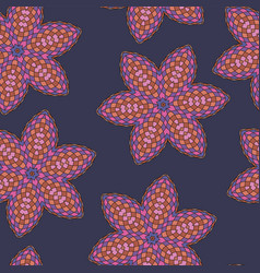 Pattern seamless colorful abstract floral vector
