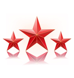 red stars vector image vector image