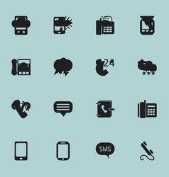 set of 16 editable device icons includes symbols vector image vector image