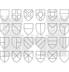 stencils of division of the shield vector image vector image
