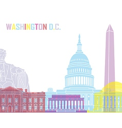 Washington DC skyline pop vector image vector image