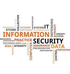 word cloud information security vector image vector image