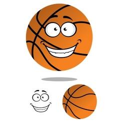Happy smiling cartoon basketball vector image vector image