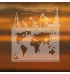 Infographics oil pump map vector image