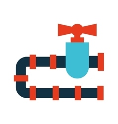 pipeline tap icon isolated vector image