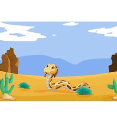Snake in the desert vector image vector image