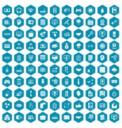 100 web development icons sapphirine violet vector image