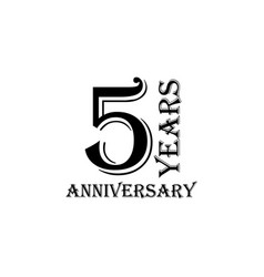 5 years anniversary sign element of anniversary vector image