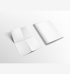 a4 sheet of paper folded two times and brochure vector image
