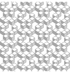Abstract cubes pattern vector image