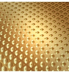 abstract metal gold background with squares vector image