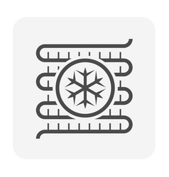 Air conditioner coil vector