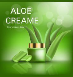aloe cream concept background realistic style vector image