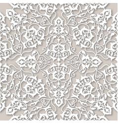 Arabic floral swirl line ornament oriental flower vector