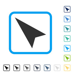 Arrowhead left-up framed icon vector