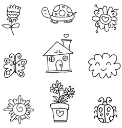 art spring of doodles vector image