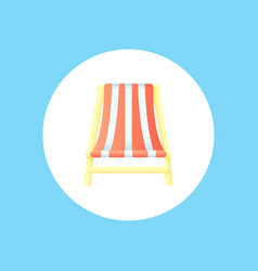 beach chair icon sign symbol vector image