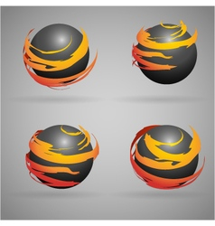 Black sphere vector