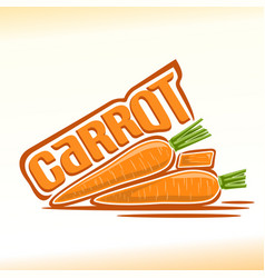Carrot still life vector