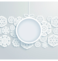 Christmas paper card vector image