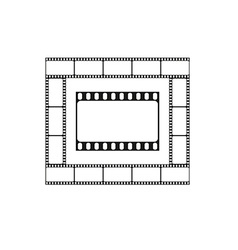 Cinema icon movie theater logo vector