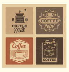 coffee shop market or cafe or restaurant vintage vector image