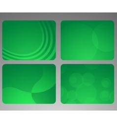 collection of abstract green cards vector image